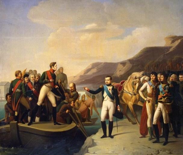 Наполеон и Александр I в Тильзите