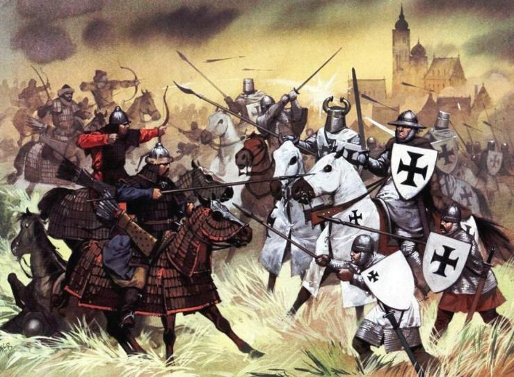 Бой монголов с тевтонцами